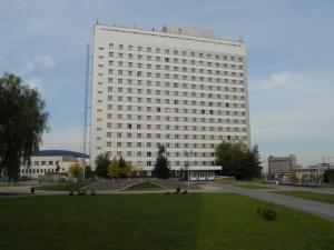 Корпус общежития университета находится в университетском городке