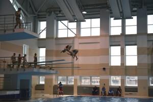 Прыжки в воду в БГУФК в Минске